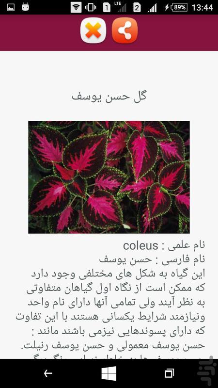 پرورش گیاهان آپارتمانی - عکس برنامه موبایلی اندروید