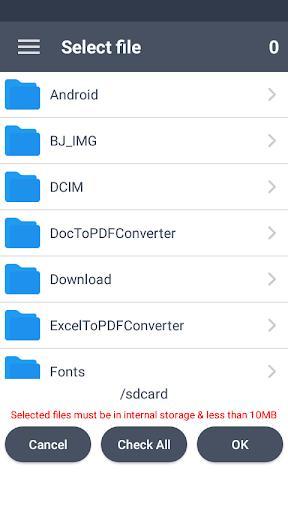 Excel to PDF Converter : xls to pdf - عکس برنامه موبایلی اندروید