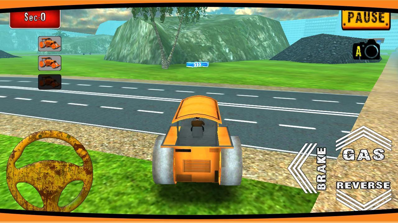 Road Roller Construction 3D - عکس بازی موبایلی اندروید