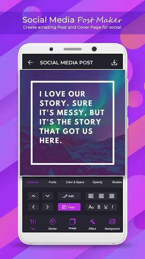 Social Media Post Maker - Social Post - عکس برنامه موبایلی اندروید
