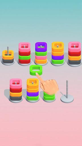 Color Ring Sorting Puzzle - عکس بازی موبایلی اندروید