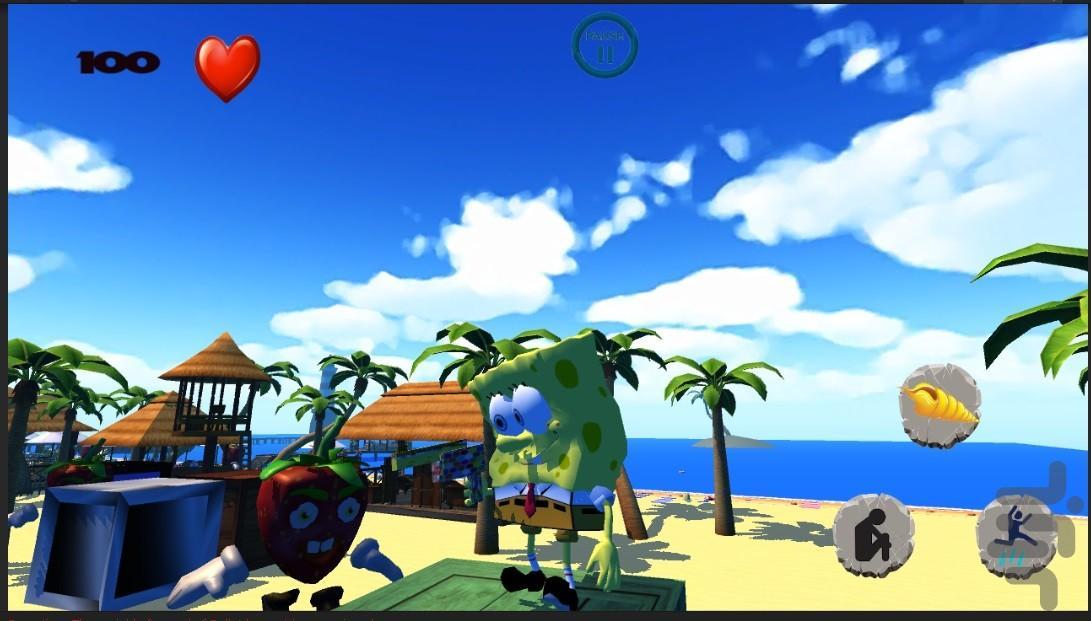 باب اسفنجی و آینه جادویی - عکس بازی موبایلی اندروید