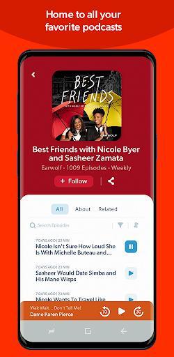 Stitcher - Podcast Player - عکس برنامه موبایلی اندروید