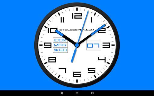 Square Analog Clock-7 - عکس برنامه موبایلی اندروید