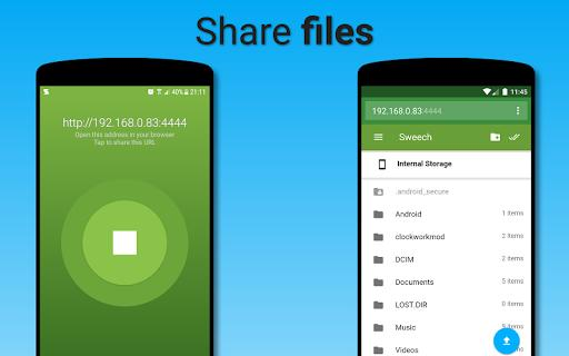 Sweech - Wifi File Transfer - عکس برنامه موبایلی اندروید