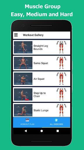Strong Legs in 30 Days - Legs Workout - عکس برنامه موبایلی اندروید