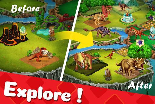 DINO WORLD - Jurassic dinosaur game - عکس بازی موبایلی اندروید