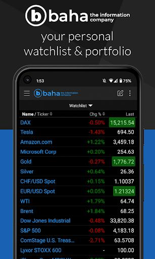 baha stocks - finance, investing, watchlists, news - عکس برنامه موبایلی اندروید