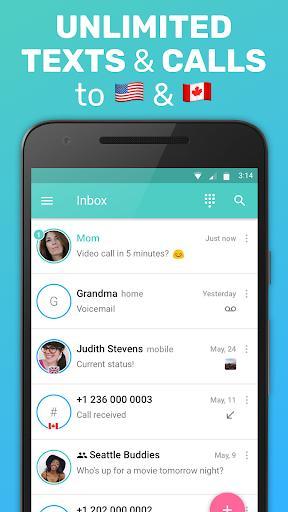 FreeTone Free Calls & Texting - عکس برنامه موبایلی اندروید