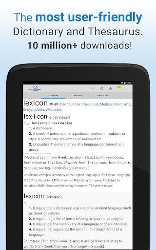 Dictionary - عکس برنامه موبایلی اندروید