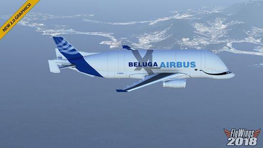 Flight Simulator 2018 FlyWings Free - عکس بازی موبایلی اندروید