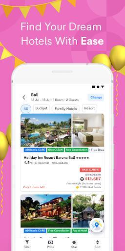 tiket.com - Hotels, Flights, To Dos - عکس برنامه موبایلی اندروید