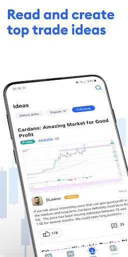 TradingView - Stock charts, Forex & Bitcoin price - عکس برنامه موبایلی اندروید