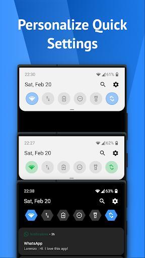 One Shade: Custom Notifications and Quick Settings - عکس برنامه موبایلی اندروید