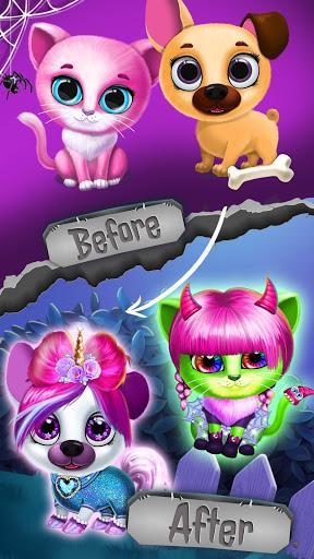 Kiki & Fifi Halloween Salon - Scary Pet Makeover - عکس بازی موبایلی اندروید