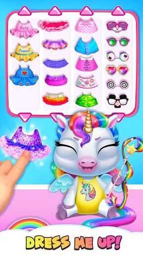 My Baby Unicorn - Virtual Pony Pet Care & Dress Up - عکس بازی موبایلی اندروید