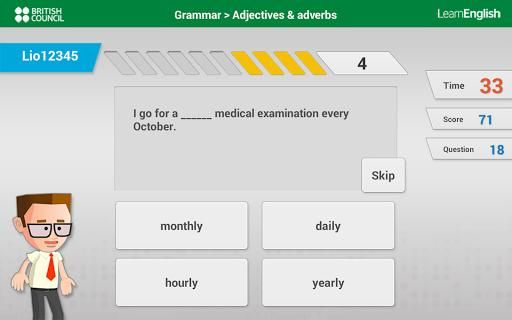 Learn English with Johnny Grammar's Word Challenge - عکس بازی موبایلی اندروید