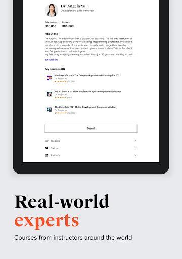 Udemy - Online Courses - عکس برنامه موبایلی اندروید