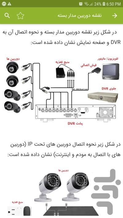 نصب دوربین مداربسته - عکس برنامه موبایلی اندروید