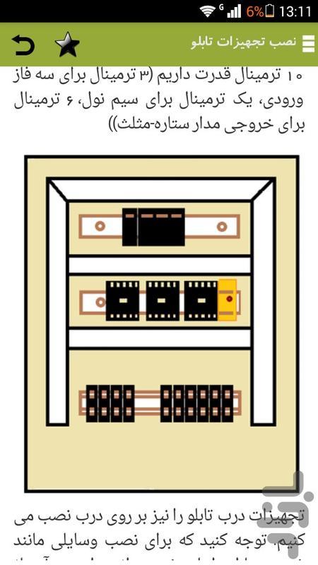 آموزش تابلو برق - عکس برنامه موبایلی اندروید