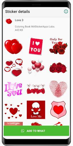 Romantic love stickers 2020 ❤️ WAStickerApps Love - عکس برنامه موبایلی اندروید