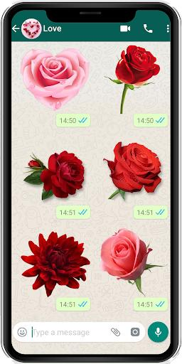 WAStickerApps flowers stickers and Roses stickers - عکس برنامه موبایلی اندروید