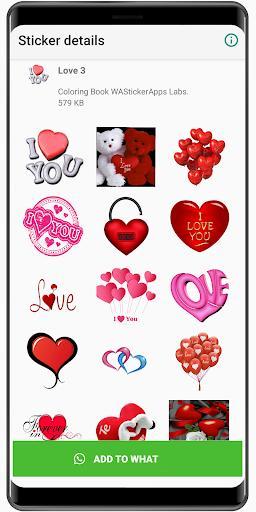 WAStickerApps love story ❤️ love Stickers 2020 – استیکر واتساپ عاشقانه - عکس برنامه موبایلی اندروید