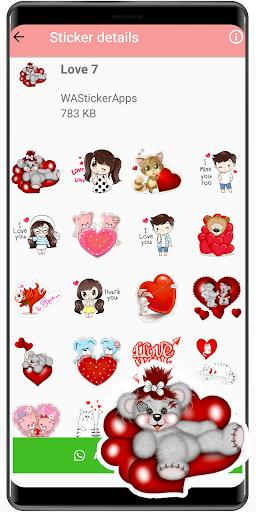 New love stickers for WAStickerApps love 2020 - عکس برنامه موبایلی اندروید
