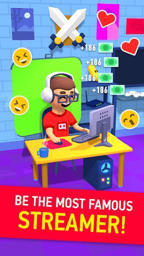 Idle Streamer - Tuber game. Get followers tycoon - عکس بازی موبایلی اندروید