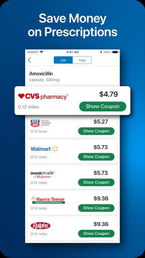 WebMD: Check Symptoms, Find Doctors, & Rx Savings - عکس برنامه موبایلی اندروید