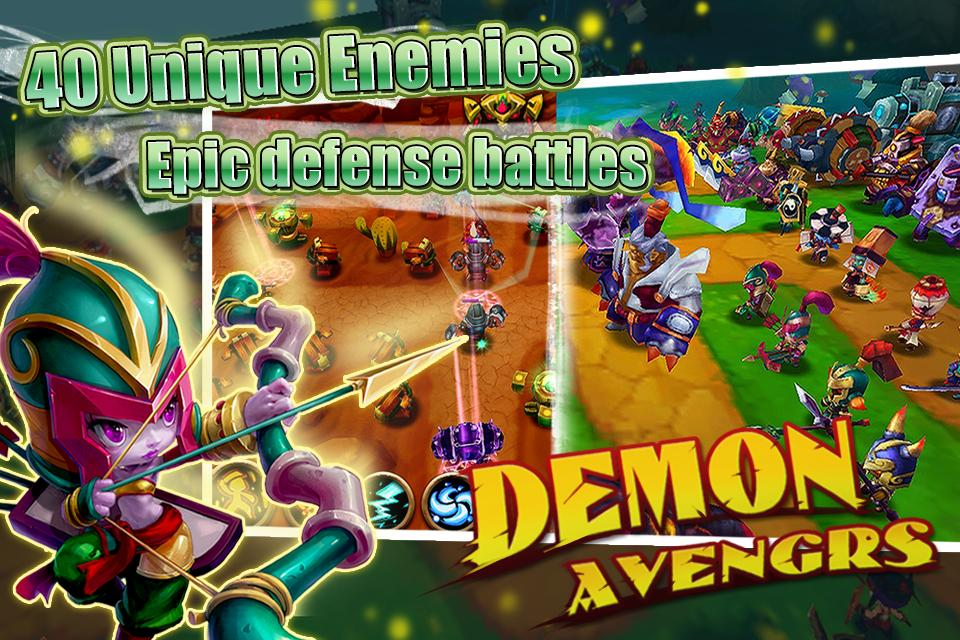 DemonAvengers-TD - Gameplay image of android game