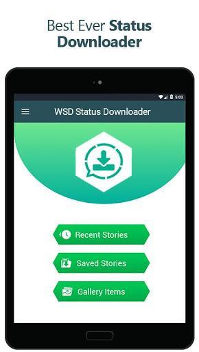 WSD Status Downloader for Whatsapp - عکس برنامه موبایلی اندروید