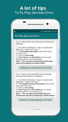 Play Services Info 2021(Update / Help & Error Fix) - عکس برنامه موبایلی اندروید