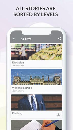 German Listen and Read ( Learn German ) - عکس برنامه موبایلی اندروید