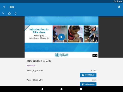 OpenWHO - سازمان بهداشت جهانی: دانش فوریتهای پزشکی - عکس برنامه موبایلی اندروید