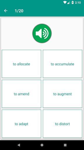 TOEFL Speaking Vocabulary with audios - عکس برنامه موبایلی اندروید