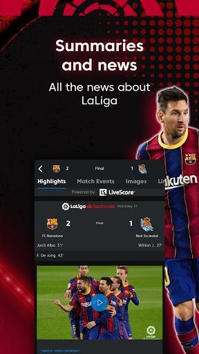 La Liga Official App - Live Soccer Scores & Stats - عکس برنامه موبایلی اندروید