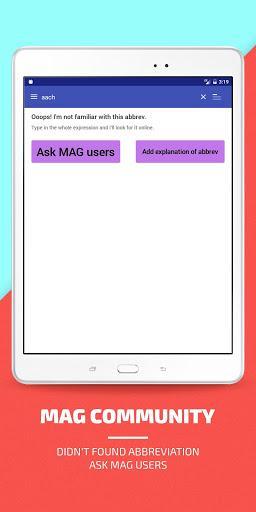 MAG Medical Abbreviations - عکس برنامه موبایلی اندروید