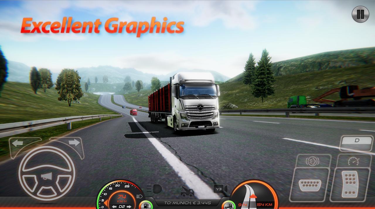 Truck Simulator : Europe 2 – شبیه ساز کامیون - عکس بازی موبایلی اندروید