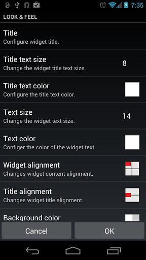 Meta Widget - عکس برنامه موبایلی اندروید