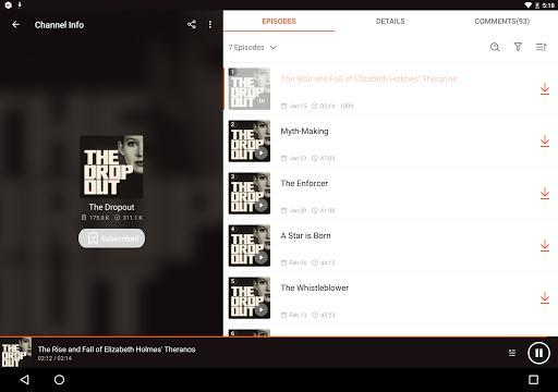 Podcast Player & Podcast App - Castbox - عکس برنامه موبایلی اندروید