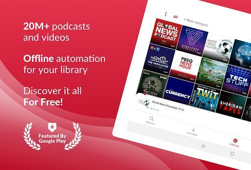 Podcast App: Free & Offline Podcasts by Player FM - عکس برنامه موبایلی اندروید