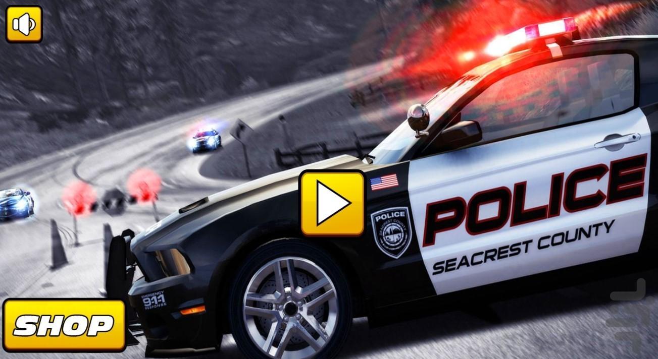 ماشین پلیس کودکانه - عکس بازی موبایلی اندروید