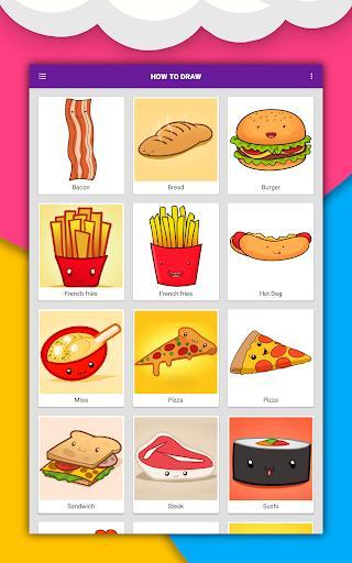 How to draw cute food, drinks step by step - عکس برنامه موبایلی اندروید
