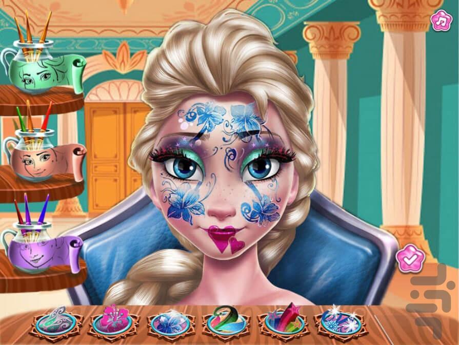 نقاشی صورت السا - عکس بازی موبایلی اندروید