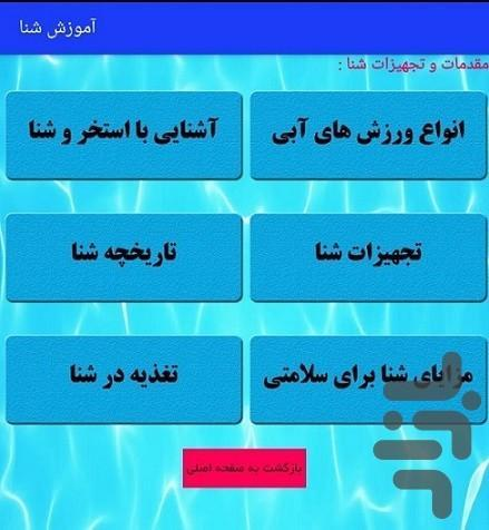 آموزش شنا با متد فدراسیون - عکس برنامه موبایلی اندروید
