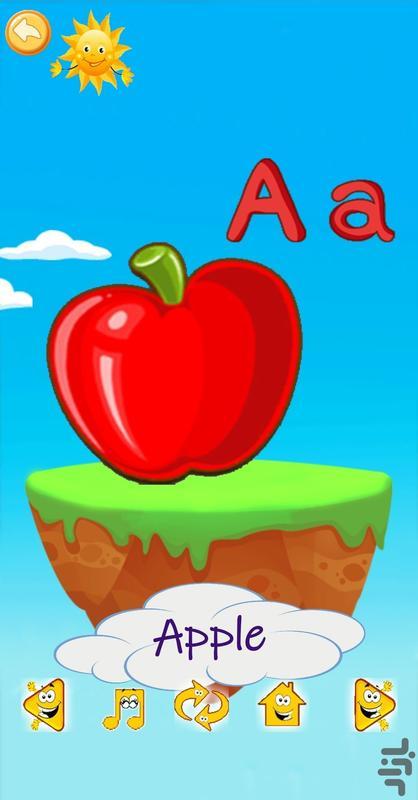 آموزش الفبا ، رنگها ، میوه ها و ... - عکس برنامه موبایلی اندروید