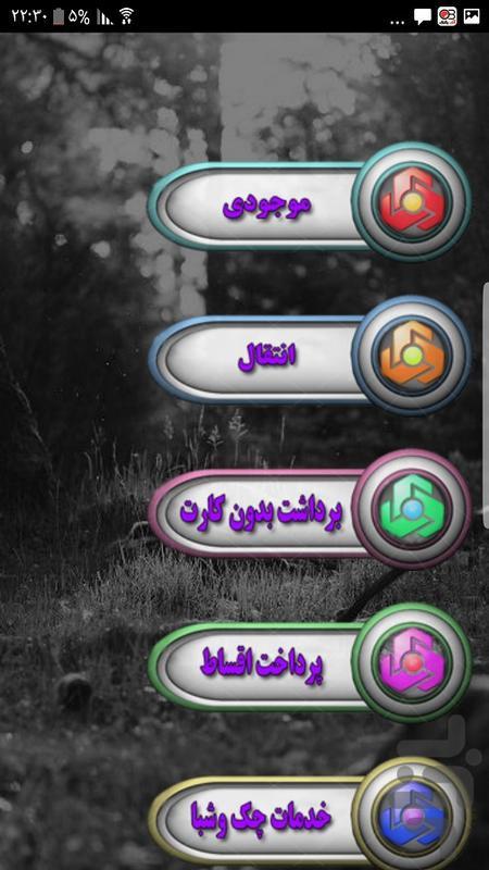 خدمات بانک(کارت به کارت و موجودی ) - Image screenshot of android app
