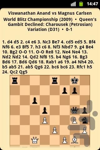 شطرنج باز نابغه کارلسن - عکس برنامه موبایلی اندروید
