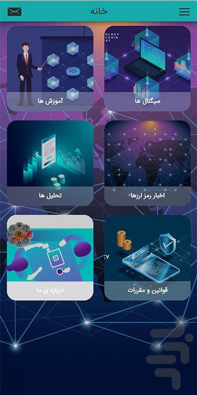 سیگنال ارز دیجیتال - عکس برنامه موبایلی اندروید